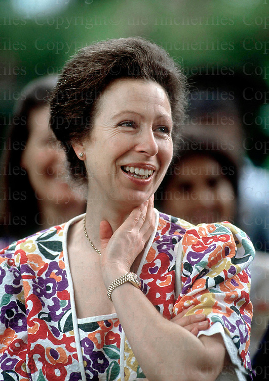The Princess Royal seen during a visit to the Black River Gorge in Mauritius in 1991. Photographed by Jayne Fincher