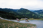 rob jarman and ross tricker ride Leogang freeride bikepark, Austria. 2002
