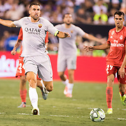 MEADOWLANDS, NEW JERSEY- August 7:  Kevin Strootman #6 of AS Roma in action during the Real Madrid vs AS Roma International Champions Cup match at MetLife Stadium on August 7, 2018 in Meadowlands, New Jersey. (Photo by Tim Clayton/Corbis via Getty Images)