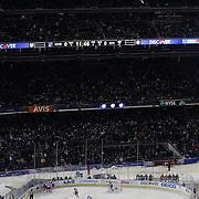 A panoramic view of Yankee Stadium during the New York Rangers Vs New York Islanders  NHL regular season game held outdoors at Yankee Stadium, The Bronx, New York, USA. 29th January 2014. Photo Tim Clayton