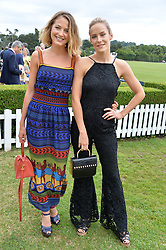 Tess Ward and Hum Fleming at the Laureus King Power Cup polo match held at Ham Polo Club, Richmond, London England. 22 June 2017.<br /> Photo by Dominic O'Neill/SilverHub 0203 174 1069 sales@silverhubmedia.com