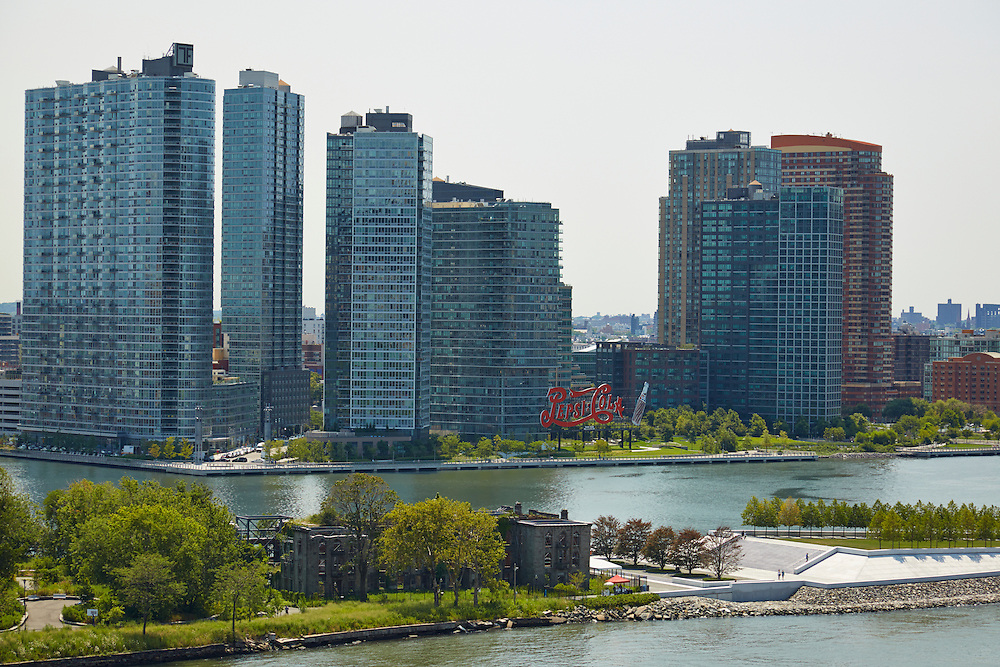 View of East River and Long Island City from 50 Sutton Place South, 17th floor