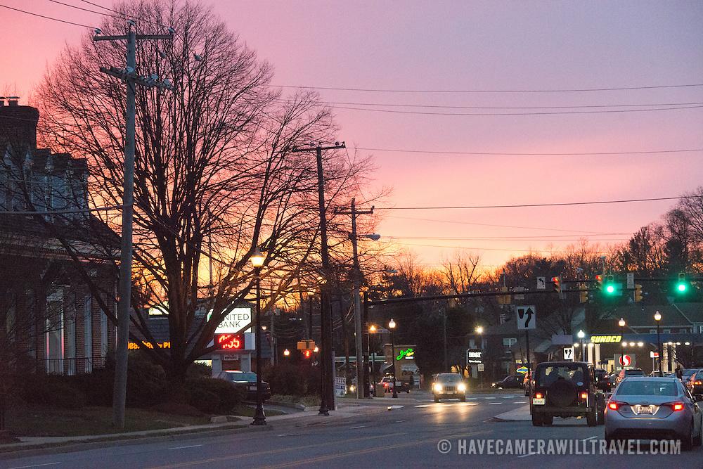 Sunset in Arlington, VA, on December 11, 2014