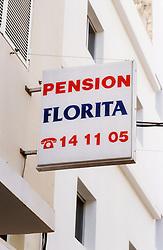 Sign for Pension Florita,