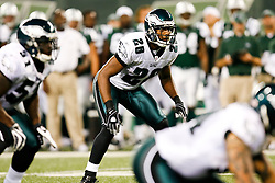 Philadelphia Eagles safety Sean Jones #26 during the NFL game between the Philadelphia Eagles and the New York Jets on September 3rd 2009. The Jets won 38-27 at Giants Stadium in East Rutherford, NJ.  (Photo By Brian Garfinkel)
