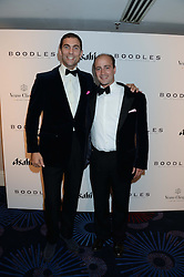 British fine jewellery brand Boodles welcomed guests for the 2013 Boodles Boxing Ball in aid of Starlight Children's Foundation held at the Grosvenor House Hotel, Park Lane, London on 21st September 2013.<br /> Picture Shows:-Left to right, HUGH VAN CUTSEM and JAMES AMOS.<br /> Press release - https://www.dropbox.com/s/a3pygc5img14bxk/BBB_2013_press_release.pdf<br /> <br /> For Quotes  on the event call James Amos on 07747 615 003 or email jamesamos@boodles.com. For all other press enquiries please contact luciaroberts@boodles.com (0788 038 3003)