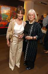 Left to right, NORMA HAYMAN and TESSA KENNEDY at a private view of artist Damian Elwes work 'Artists Studios' held at Scream, 34 Bruton Street, London W1 on 29th June 2006.<br /><br />NON EXCLUSIVE - WORLD RIGHTS