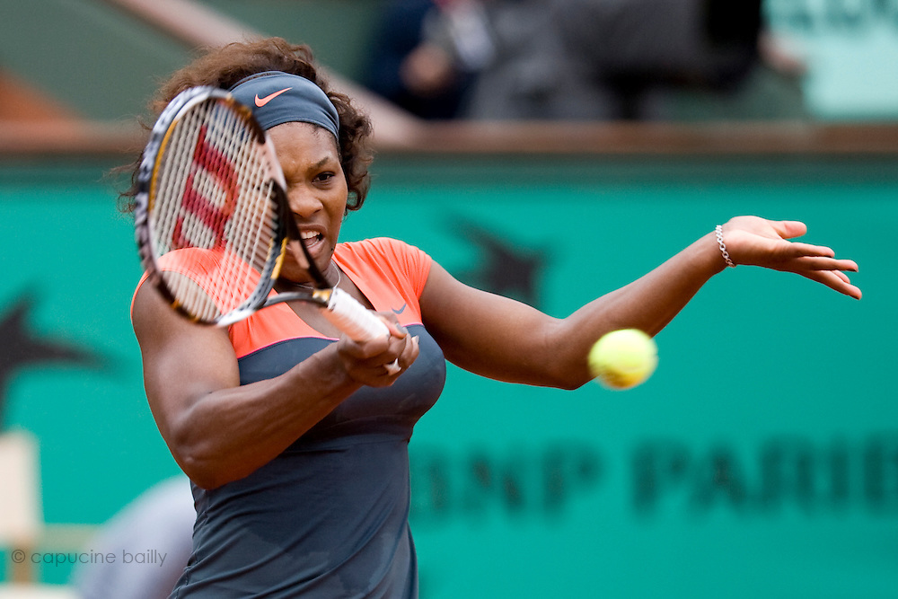 Paris, France. May 28th 2009. .Roland Garros - Tennis French Open. 2nd Round..American player Serena Williams against Virginia Ruano Pascual