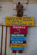 Sao Romao _ MG, Brasil...Placa de anuncio de cursos em Sao Romao, Minas Gerais...Sign about courses in Sao Romao, Minas Gerais...Foto: LEO DRUMOND /  NITRO