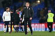 Phil Parkinson, the Bolton Wanderers manager looks on at the end of the match. Emirates FA Cup 3rd round replay match, Crystal Palace v Bolton Wanderers at Selhurst Park in London on Tuesday 17th January 2017.<br /> pic by John Patrick Fletcher, Andrew Orchard sports photography.