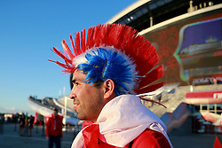 June 28, 2017 - Moscow, Russia - June 28, 2017. Russia, Kazan, Kazan Arena Stadium. FIFA Confederations Cup 2017. Chile's fans during match between Chile and Portugal (Credit Image: © Russian Look via ZUMA Wire)