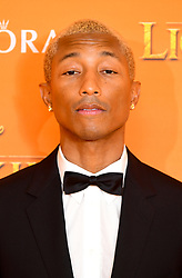 Pharrell Williams attending Disney's The Lion King European Premiere held in Leicester Square, London.