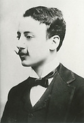 'Gabriele D'Annunzio (1863-1938) Italian poet, dramatist, novelist and journalist. An ultra-nationalist, his ideas strongly influenced the fascism of Benito Mussolini.'