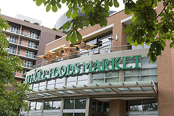 June 17, 2017 - Seattle, Washington, United States - Seattle, Washington: Whole Foods Market storefront in the South Lake union neighborhood. Amazon.com announced that it would acquire the specialty organic supermarket chain for $13.7 billion. The deal to close by the end of 2017 would make Whole Foods Market a subsidiary of Amazon.com. (Credit Image: © Paul Gordon via ZUMA Wire)