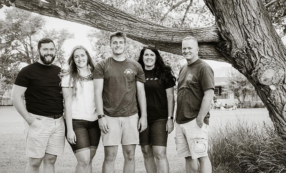 Mallory, Mitch, Deb, and Danen Lott, Strawberry Canyon, August 2020.