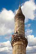 The Kethuda minaret  , Eger, Hungary .<br /> <br /> Visit our HUNGARY HISTORIC PLACES PHOTO COLLECTIONS for more photos to download or buy as wall art prints https://funkystock.photoshelter.com/gallery-collection/Pictures-Images-of-Hungary-Photos-of-Hungarian-Historic-Landmark-Sites/C0000Te8AnPgxjRg