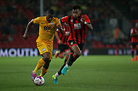 Football - 2016 / 2017 League Cup - Round 3: AFC Bournemouth vs. Preston North End<br /> <br /> Bournemouth's Tyrone Mings pace is put to the test on his return to first team action by Chris Humphrey of Preston at Dean Court (The Vitality Stadium) Bournemouth<br /> <br /> Colorsport/Shaun Boggust