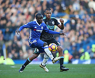Chelsea's N'Golo Kante tussles with WBA's Salomon Rondon during the Premier League match at Stamford Bridge Stadium, London. Picture date December 11th, 2016 Pic David Klein/Sportimage
