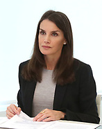 051420 Queen Letizia attends a videoconference at Zarzuela Palace