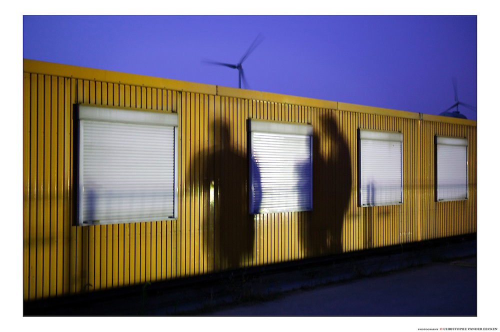 Ghent, Belgium, Sep 01, 2005, Construction of two detentionboats for the Dutch government. PHOTO © Christophe VANDER EECKEN