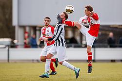 17-12-2017: Voetbal: UVV v VEP: Utrecht<br /> <br /> (L-R) Mitch van Haaren (VEP), Karoy Swanink (UVV) - gevaarlijk spel - inkijk<br /> <br /> Mannen, 1, 4e klasse H<br /> Seizoen 2017-2018
