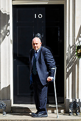 © Licensed to London News Pictures. 12/05/2015. LONDON, UK. Minister without Portfolio Robert Halfon attending to the first Conservative cabinet meeting after the 2015 general election in Downing Street on Tuesday, 12 May 2015. Photo credit: Tolga Akmen/LNP