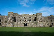 Beaumaris Castle, the greatest castle never built, Beaumaris, Anglesey, Wales, United Kingdom, 17th of February 2020. Beaumaris castle was a fortress built as part of Edward I's campaign to conquer north Wales after 1282. It is a symmetrical masterpiece that was never quite finished.  (photo by Andrew Aitchison / In pictures via Getty Images)