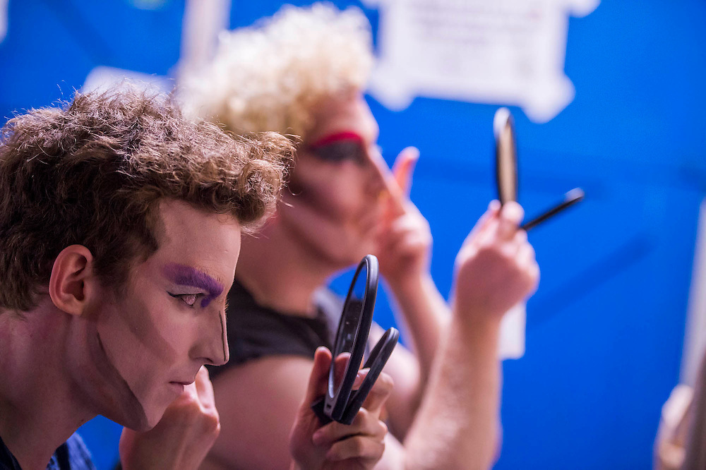 Preparations - Denim, a Cambridge founded musical comedy drag troop who last summer performed with Florence and The Macvhine,  perform their brand new show Interstellar at Vault festival. The show runs froim 24  Feb to 6 March 2016.