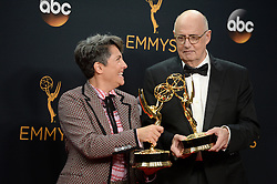 Jill Soloway and Jeffrey Tambor pose in the press room during the 68th Annual Primetime Emmy Awards at Microsoft Theater on September 18, 2016 in Los Angeles, CA, USA. Photo by Lionel Hahn/ABACAPRESS.COM