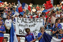 05.07.2011, Borussia-Park, Moenchengladbach, GER, FIFA Women Worldcup 2011, Gruppe A,  Frankreich (FRA) Deutschland (GER) ,. im Bild französische Fans . // during the FIFA Women´s Worldcup 2011, Pool A,France vs Germany on 2011/06/26, Borussia-Park, Moenchengladbach, Germany. EXPA Pictures © 2011, PhotoCredit: EXPA/ nph/  Karina Hessland       ****** out of GER / CRO  / BEL ******