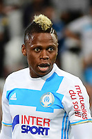 Clinton Njie of Marseille during the French Ligue 1 match between Olympique de Marseille and Olympique Lyonnais at Stade Velodrome on September 18, 2016 in Marseille, France. (Photo by Dave Winter/Icon Sport)