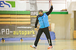 Veselin Vujovic, head coach of Slovenia  during friendly handball match between National Teams of Slovenia and F.Y.R. of Macedonia before EHF EURO 2016 in Poland on January 4, 2015 in Sports hall Krsko, Krsko, Slovenia. Photo by Urban Urbanc / Sportida