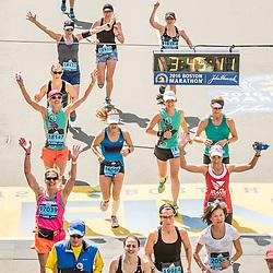 Boston Marathon start Oiselle runner