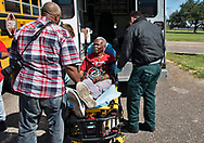 Robert Taylor suffering from heat exhaustion during a protest in front of the Denka Performance Elastomer plant in LaPlace, Louisiana on the fourth day of a march held by the Coalition Against Death Alley.