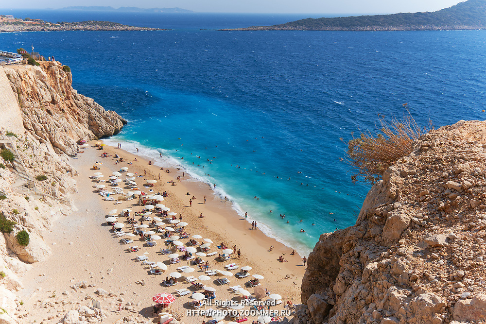 The number one beach in Turkey, Kaputas beach in turquoise coast