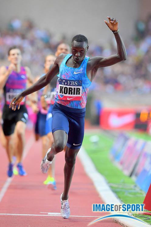 Emmanuel Korir (KEN) wins the 800m in 1:43.10 in the Herculis Monaco in an IAAF Diamond League meet at Stade Louis II stadium in Fontvieille, Monaco on Friday, July 21, 2017. (Jiro Mochizuki/Image of Sport)