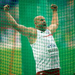 13.08.2013, Luzhniki Stadion, Moskau, RUS, IAAF Leichtathletik Weltmeisterschaft, im Bild PIOTR MALACHOWSKI SREBRNY MEDALISTA MISTRZOSTWA SWIATA W RZUCIE DYSKIEM // during the IAAF world athletics championships at Luzhniki stadium in Moscow, Russia on 2013/08/13. EXPA Pictures © 2013, PhotoCredit: EXPA/ Newspix/ Roman Bosiacki<br /> <br /> ***** ATTENTION - for AUT, SLO, CRO, SRB, BIH, TUR, SUI and SWE only *****