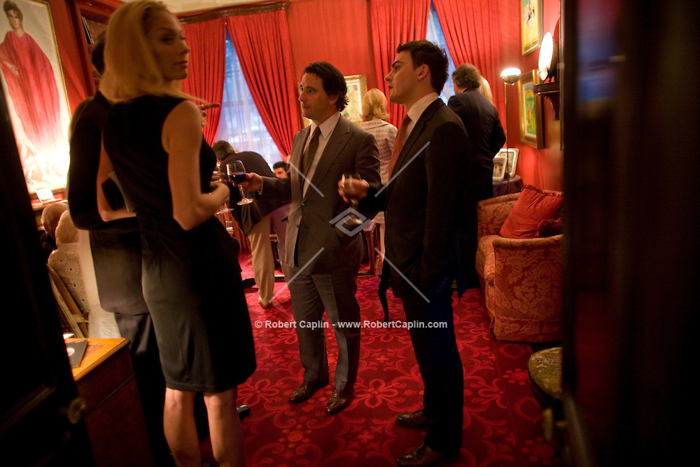 The Last Party at William F. Buckley's Apartment in New York, U.S. as part of an open house for the house-buyers, art-buyers, and friends of Buckley.  June 18, 2008.