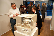 TREVOR WATKINS; PRYCE TOJCIC, Relics of the Mind.- Private view of work by Katharine Dowson. GV Art, 49 Chiltern st. London. W1. 16 September 2010. -DO NOT ARCHIVE-© Copyright Photograph by Dafydd Jones. 248 Clapham Rd. London SW9 0PZ. Tel 0207 820 0771. www.dafjones.com.