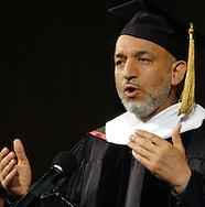 Omaha Neb, 5/25/05  Afghanistan President Hamid Karzai gives a speech at the University of Nebraska at Omaha Wednesday evening. (Chris Machian/Prairie Pixel Group)