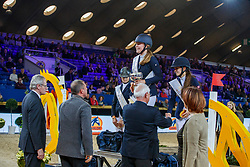 Poels Zara, BEL, Philippaerts Ludo, BEL<br /> WC Pony - Cavalor<br /> Vlaanderens Kerstjumping Memorial Eric Wauters<br /> © Dirk Caremans<br /> 27/12/2016