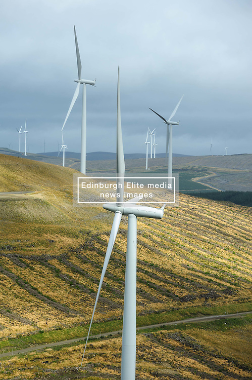 The 152 turbine Clyde Wind Farm in South Lanarkshire officially opened on 14th September 2012 by Alex Salmond, First Minister of Scotland.<br /> <br /> (c) Andrew Wilson   Edinburgh Elite media