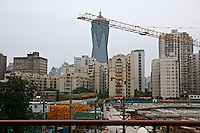 Construction site in Shanghai, China.