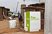 Pee Poople is an new  organisation  from a Sweden.  People of Kibera slum are paid 2 KSH (Kenyan Shillings) to poo. Their faeces is used as a high grade fertilizer that has a market value.