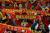 Fans of Belgium celebrates at the end of the UEFA European Championship 2016 qualifying Group B football match between Andorra and Belgium on October 10, 2015 at The Estadi Nacional in Andorra la Vella, Andorra. <br /> Photo Manuel Blondeau/AOP Press/DPPI