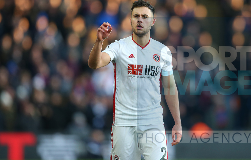 Sheffield United's George Baldock during the Premier League match at Selhurst Park, London. Picture date: 1st February 2020. Picture credit should read: Paul Terry/Sportimage