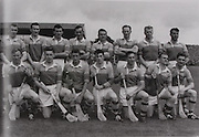 "Wexford-All-Ireland Hurling Champions 1960. Back Row: Padge Kehoe, Tom Neville, John Nolan, Nick O'Donnell (capt), Tim Flood, Billy Rackard, Ned Wheeler, Jim Morrissey. Front Row: Jim English, John Mitchell, Pat Nolan, Jimmy O'Brien, Jack Harding, Oliver ""Hopper"" McGrath, Seamus Quaid. ..Hurling - Incorrect Folder"