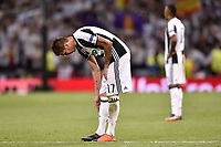 Mario Mandzukic of Juventus looks dejected during the UEFA Champions League Final match between Real Madrid and Juventus at the National Stadium of Wales, Cardiff, Wales on 3 June 2017. Photo by Giuseppe Maffia.<br /> <br /> Giuseppe Maffia/UK Sports Pics Ltd/Alterphotos