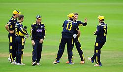 Hampshire celebrate the wicket of Tom Abell.  - Mandatory by-line: Alex Davidson/JMP - 02/08/2016 - CRICKET - The Ageas Bowl - Southampton, United Kingdom - Hampshire v Somerset - Royal London One Day