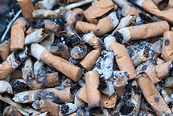 Ash tray full of cigarette ends